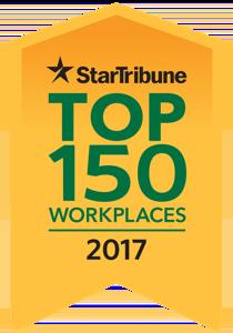 StarTribune Top 150 Workplaces 2017